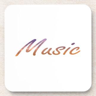 music text purple orange clouds coaster