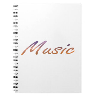 music text purple orange clouds notebook