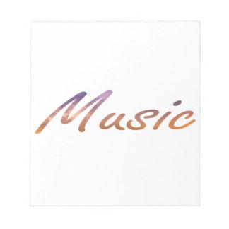 music text purple orange clouds notepad