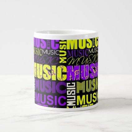 music text purple yellow black graphic.jpg extra large mugs