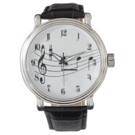Music text wrist watch