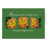 Music Thank You for Beautiful Funeral Service Card