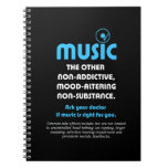 Music: The other non-addictive, mood-altering… Spiral Notebooks