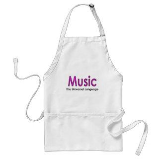 Music the universal language2 adult apron