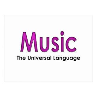 Music the universal language2 postcard