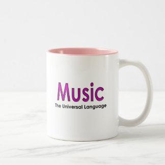 Music the universal language2 Two-Tone coffee mug