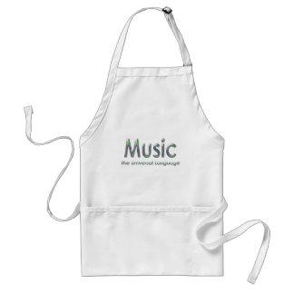 Music the universal language3 adult apron
