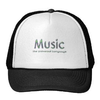 Music the universal language3 mesh hats