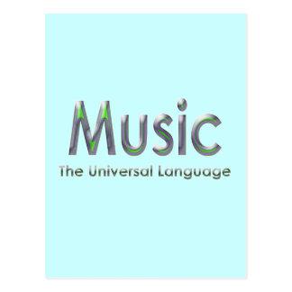 Music the universal language3 postcard