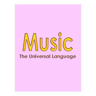 Music the universal language4 postcard