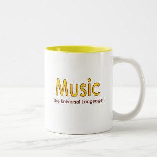 Music the universal language4 Two-Tone coffee mug