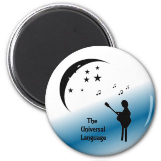 Music ...  The Universal Language 2 Inch Round Magnet