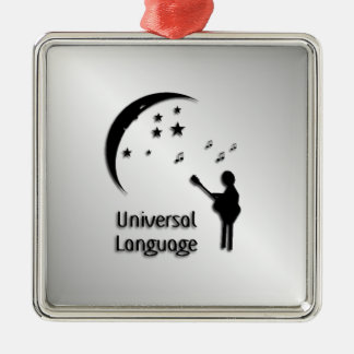 Music the Universal Language Metal Ornament