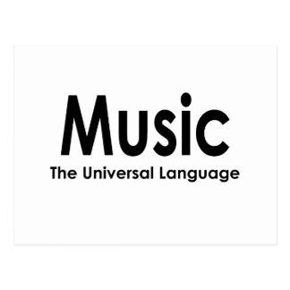 Music the universal language postcard