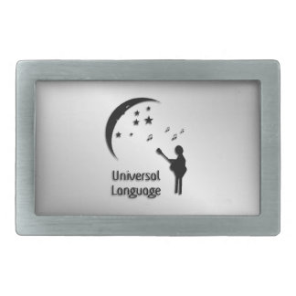 Music the Universal Language Rectangular Belt Buckle