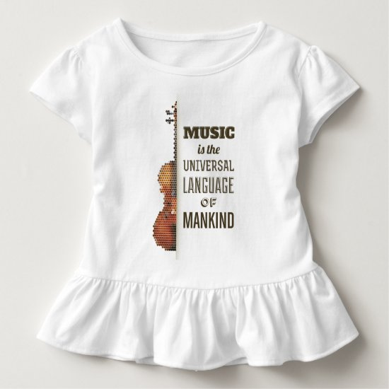 Music The Universal Language | Ruffle Tee