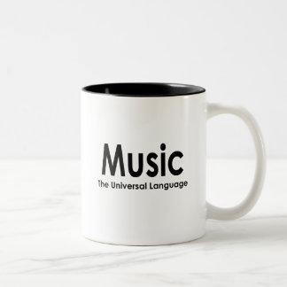 Music the universal language Two-Tone coffee mug