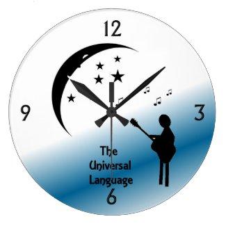 Music the Universal Language Wall Clock