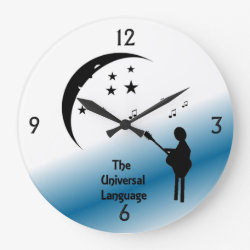 Music the Universal Language Wall Clock