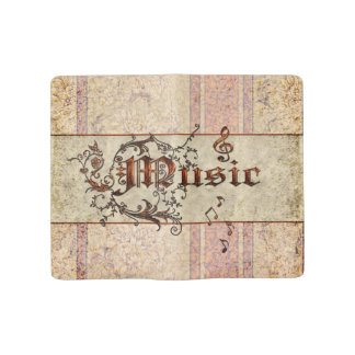 Music the word large moleskine notebook cover with notebook