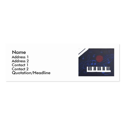Music Theme Business Cards