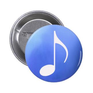 music theme 2 inch round button