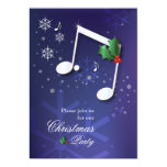 Music Theme Christmas Party Invitation