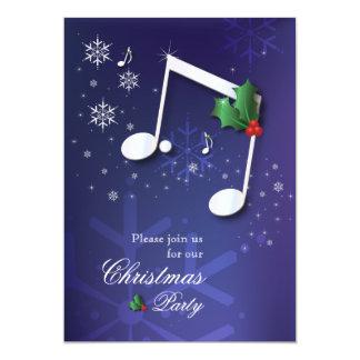 Music Theme Christmas Party Invitation