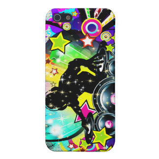 Music Theme DJ Spinning Records Abstract Design iPhone SE/5/5s Case