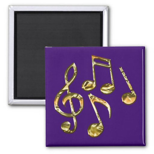MUSIC Theme Gift Collection 2 Inch Square Magnet
