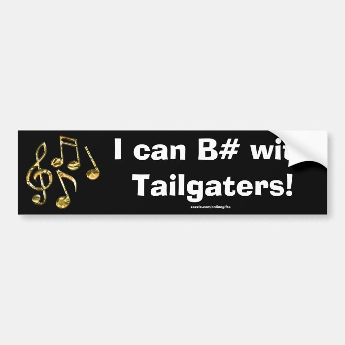 MUSIC Theme Gift Collection Bumper Sticker