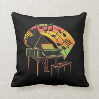 Music Theme Illustration-Abstract Piano Pillow