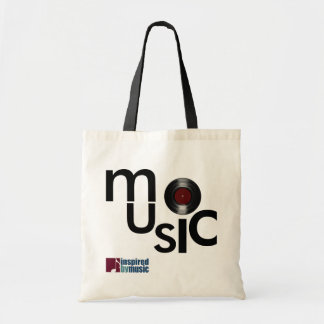 music-theme inspired tote bag