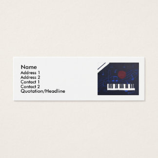Music Theme Mini Business Card