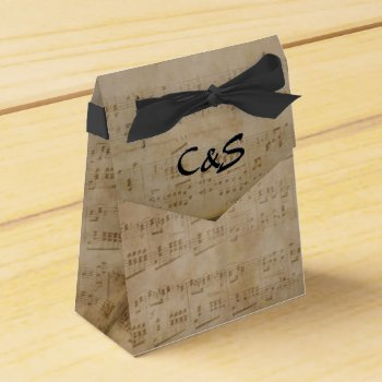 Music Theme Monogram Favor Boxes