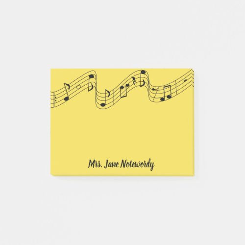 Music Theme Post it Notes