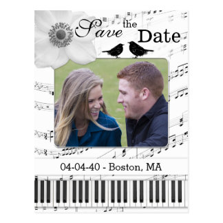 Music Theme Save the Date Postcard