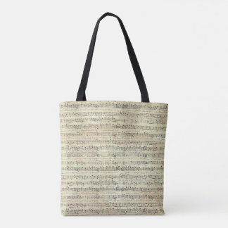 Music theme tote bag music note
