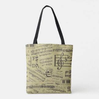 Music theme tote bag music note piano bag
