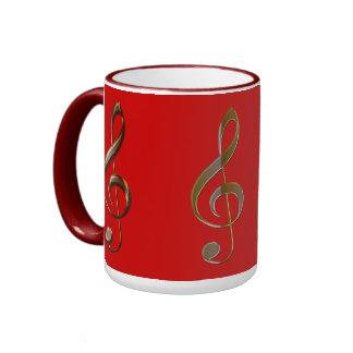 MUSIC Theme Treble Cleff Tea & Coffee Drinkware Coffee Mug