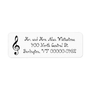 music return address labels zazzle