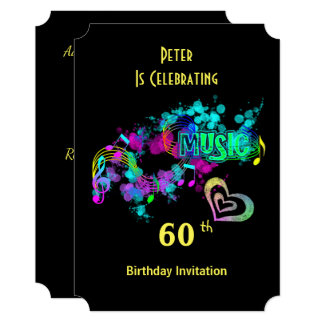 Music Themed Celebration Party Personalized Card