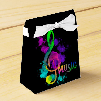 Music Themed Celebration Party Personalized Favor Box