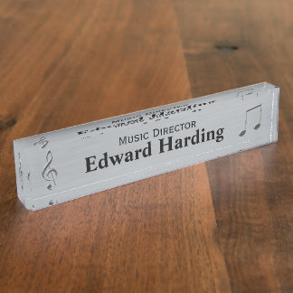 Music Themed Custom Desk Nameplate