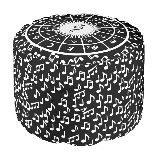 Music Themed design for the music lover Pouf