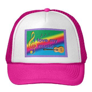 music themed hat/cap trucker hat