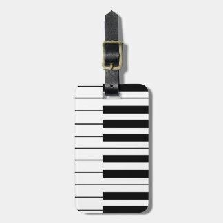 music-themed piano keys bag tag