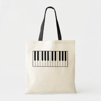music-themed piano keys budget tote bag
