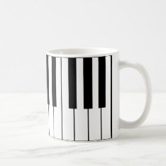 Music-themed Piano Keys Coffee Mug at Zazzle