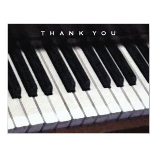 music-themed thank-you message card
